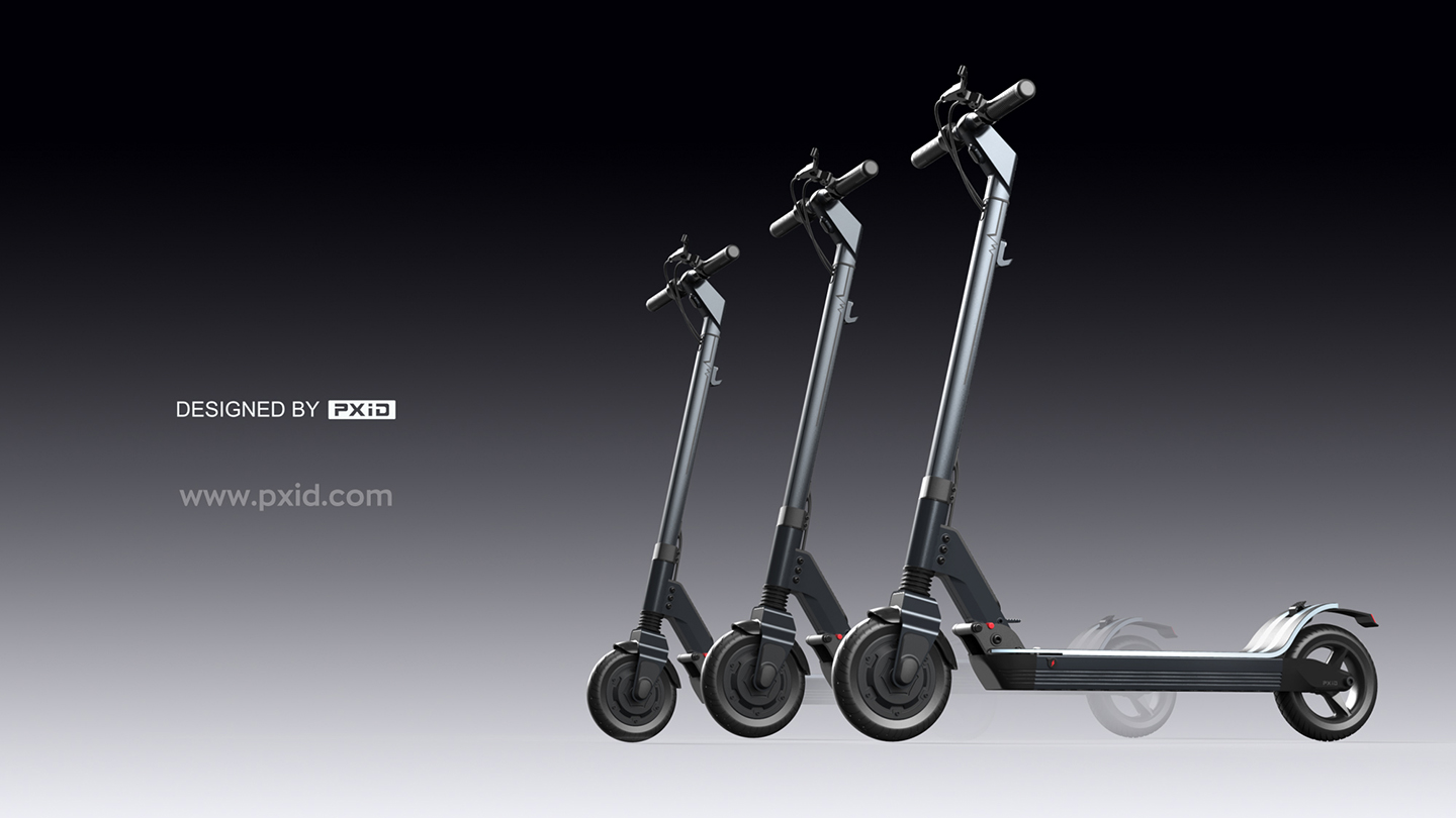 Fashionable electric scooter for urban transportation
