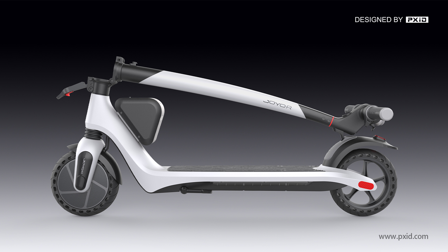 Jiuyue A3 comes with a scooter with an external battery, giving you the fun of riding