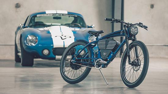 Electric bicycle inspired by Shelby Cobra sports car